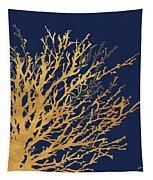 Gold Medley On Navy Tapestry