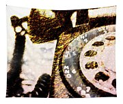 Gold Rotary Phone Tapestry