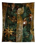 Gold Tones Tree Tapestry