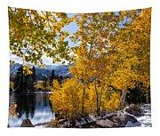 Golden Aspen On The Lake Tapestry