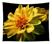 Golden Flower  Tapestry