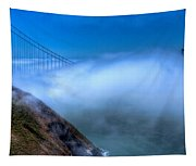 Golden Gate Bridge In The Fog Tapestry