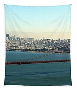Golden Gate Bridge Tapestry by Linda Woods