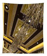 Golden Jewels And Gems - Sparkling Crystal Chandeliers  Tapestry