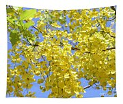 Golden Medallion Shower Tree Tapestry
