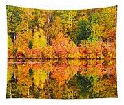 Golden Reflection Tapestry