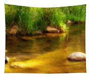 Golden Reflections Tapestry