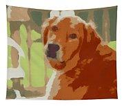 Golden Retriever Profile Tapestry