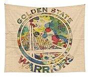 Golden State Warriors Logo Art Tapestry