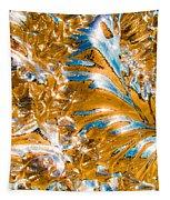 Golden Steel Swirl Tapestry
