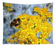 Golden Yarrow And Visitor Tapestry