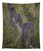 Goldenrod By The Fence Tapestry