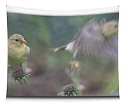 Goldfinch On Echinacia Tapestry