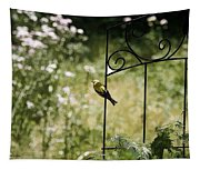 Goldfinch On The Lookout -19 Tapestry