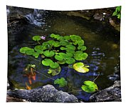 Goldfish With Lily Pads Tapestry