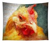 Goldie's Turn - Silk Paint Tapestry