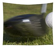 Golf Ball On Tee Hit By Driver Tapestry