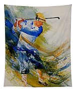 Golf Player Tapestry