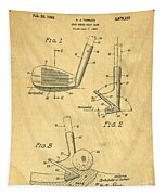 Golf Sand Wedge Patent On Aged Paper Tapestry