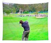 Golf Swing Drive Tapestry
