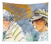 Golfers In Soufflenheim 02 Tapestry