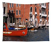 Gondolas In A Canal, Grand Canal Tapestry
