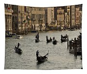 Gondolas On The Grand Canal Tapestry