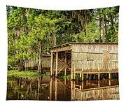 Gone Fishing On Caddo Lake Tapestry