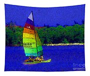 Gone For A Sail Tapestry
