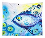 Good Luck Fish Abstract Tapestry