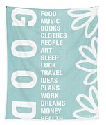 Good Things Blue Tapestry