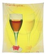 Good Wine Valentine Card Tapestry