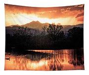 Goose On Golden Ponds 1 Tapestry