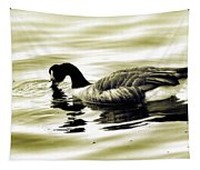 Goose Reflecting In The Water Tapestry