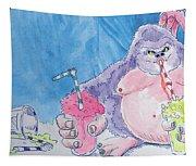 Gorilla Cartoon Tapestry