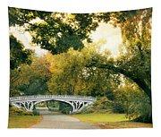 Gothic Bridge In Central Park Tapestry