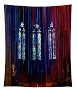 Grace Cathedral With Ribbons Tapestry