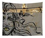 Graffiti Girl Tapestry