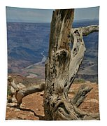 Grand Canyon And Dead Tree 2  Tapestry