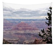 Grand Canyon Awaiting Snowstorm Tapestry