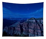 Grand Canyon In Moonlight Tapestry