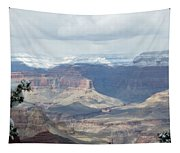 Grand Canyon Shadows And Snow Tapestry