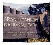 Grand Canyon Signage Tapestry