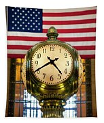 Grand Central Clock Tapestry