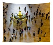Grand Central Terminal Clock Birds Eye View  Tapestry