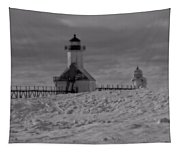 Saint Joseph Michigan Lighthouse In Winter Tapestry