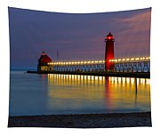 Grand Haven South Pier Lighthouse Tapestry