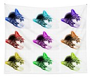 Grand Kitty Cuteness 3 Pop Art 9 Tapestry