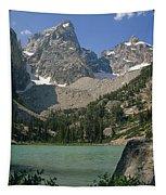 1m9387-v-grand Teton And Delta Lake - V Tapestry