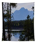 Grand Teton Framed By Cedars Tapestry